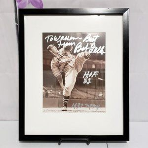 Baseball Memorabilia Framed Pic Pitcher Bob Feller